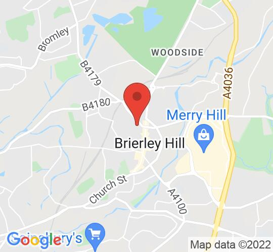 Google map static shot of Brierley Hill Civic Hall, Bank Street, DY5 3DH