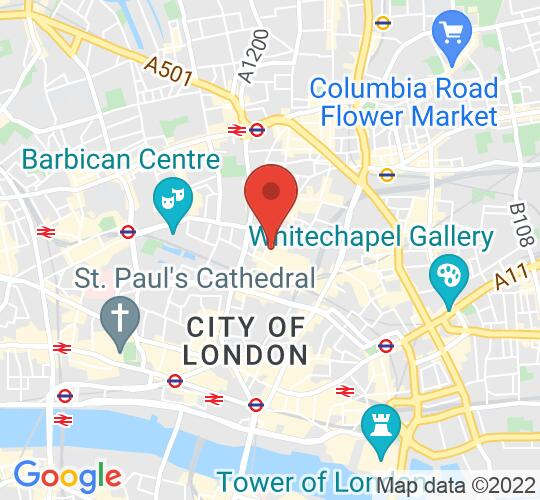 Google map static shot of Theatre Delicatessen Studios, 1st Floor, London, EC2M 2PP