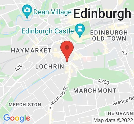 Google map static shot of Central Hall (Auditorium), City of Edinburgh, EH3 9BP