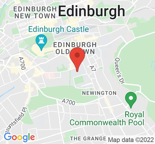 Google map static shot of Teviot Row House, Edinburgh, EH8 9AJ