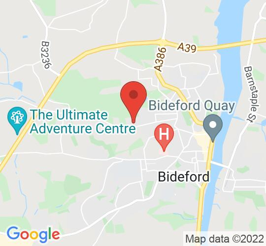 Google map static shot of Kingsley School Bideford, Bideford, EX39 3LY