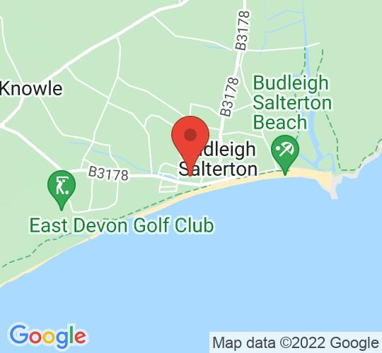 Google map static shot of Temple Methodist Church, Budleigh Salterton, EX9 6NN