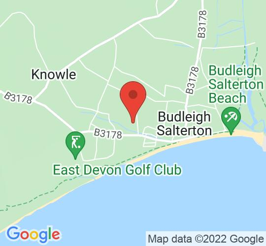 Google map static shot of The Public Hall Budleigh Salterton, Budleigh Salterton, EX9 6RJ