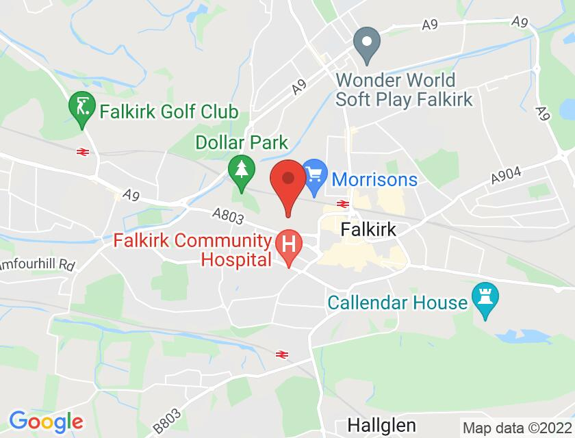 Google map static shot of FTH, Falkirk, FK1 5RS