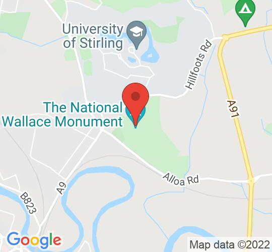 Google map static shot of The National Wallace Monument, STIRLING, FK9 5LF