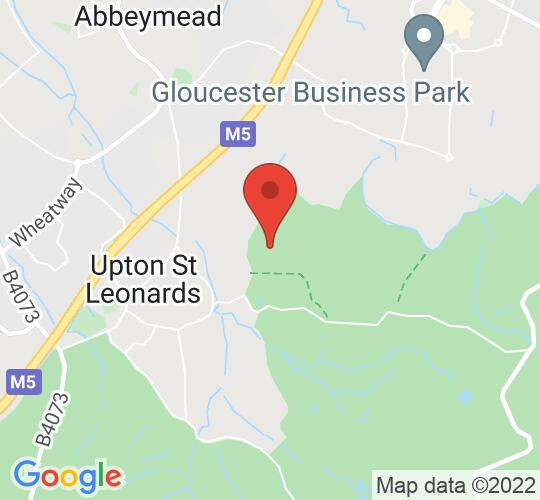 Google map static shot of Mercure Bowden Hall Hotel, Gloucester, GL4 8ED