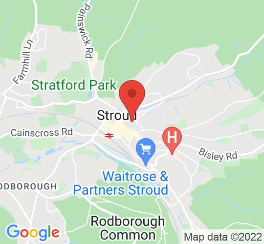 Google map static shot of St Laurence Church, Stroud, Stroud, GL5 1JL