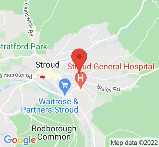 Google map static shot of Cotswold Playhouse, Stroud, GL5 1LW