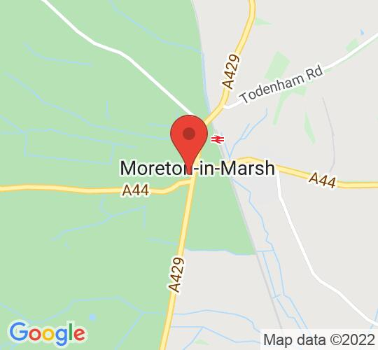 Google map static shot of Redesdale Hall, Moreton in Marsh, GL56 0AW