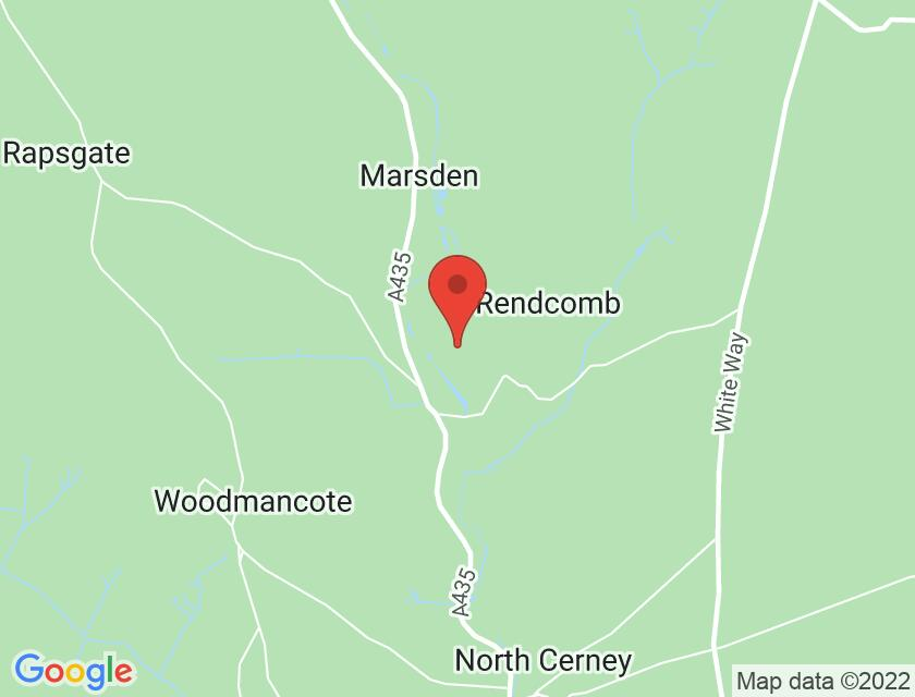 Google map static shot of Rendcomb College Open Air Theatre, Gloucestershire, GL7 7HA