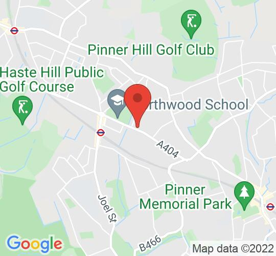 Google map static shot of Church of St Edmund the King, Middlesex, HA6 1QS