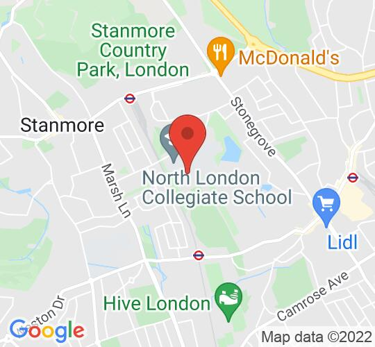 Google map static shot of Performing Arts Centre, Canons, Canons Drive, Edgware, HA8 7RJ