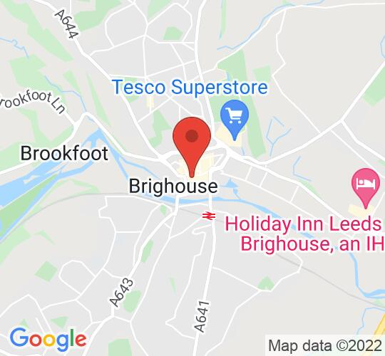 Google map static shot of Blakeleys Fish and Chip Restaurant, Brighouse, HD6 1JX