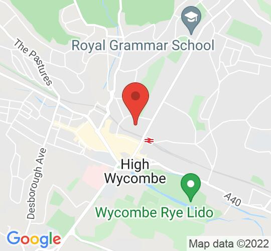 Google map static shot of Wycombe Museum, Bucks, HP13 6PX