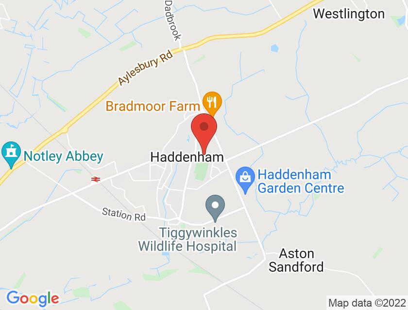 Google map static shot of Haddenham Youth & Community Centre, Bucks, HP17 8DS