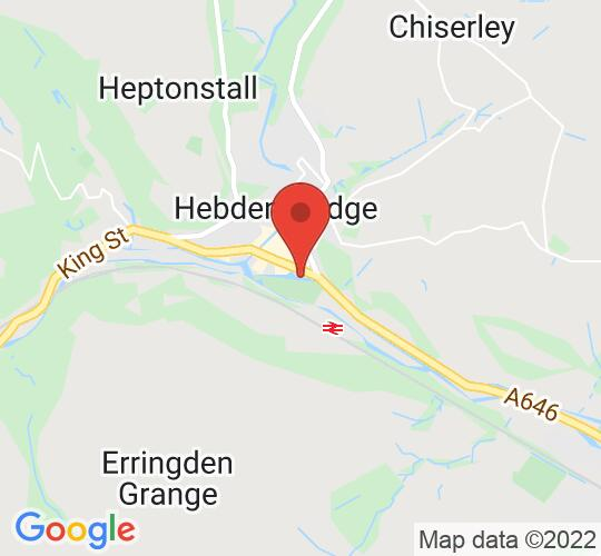Google map static shot of Hebden Bridge Picture House, Hebden Bridge, HX7 8AD