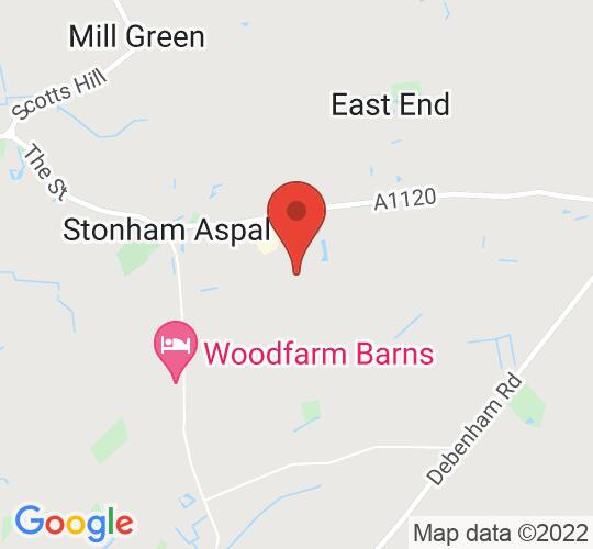 Google map static shot of Stonham Barns Leisure & Retail Village, Suffolk, IP14 6AT