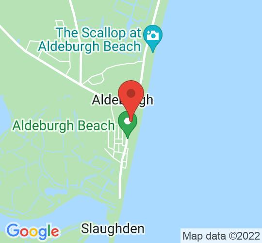 Google map static shot of Aldeburgh Jubilee Hall, Aldeburgh, IP15 5BN