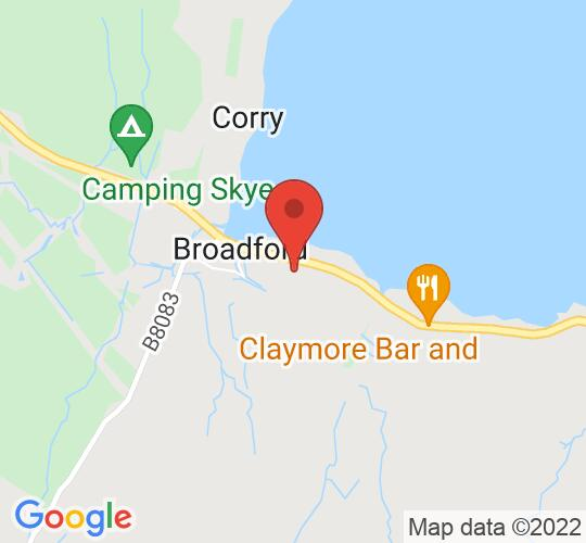 Google map static shot of Broadford Hall, Isle of Skye, IV49 9AD
