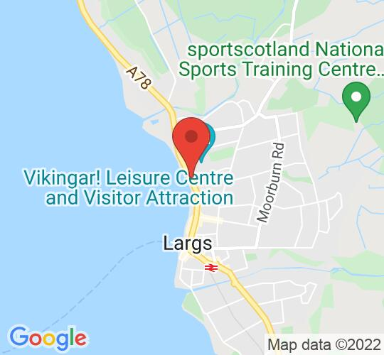 Google map static shot of Barrfields Pavilion Theatre, Largs, KA30 8QL