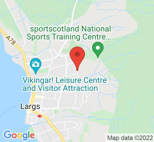 Google map static shot of Largs Academy, Ayrshire, KA30 9EX