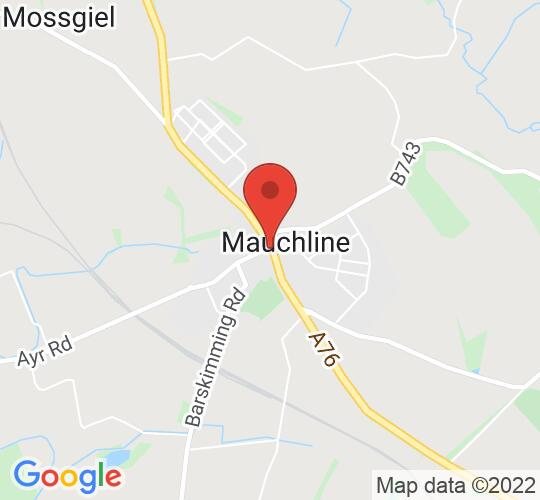 Google map static shot of Kilmarnock Supporters Club, Mauchline, KA55DA