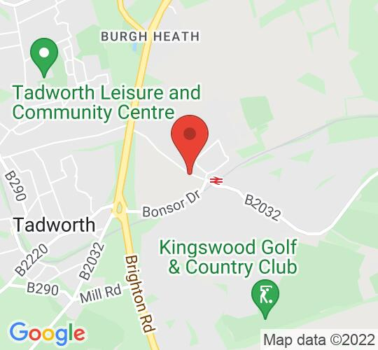 Google map static shot of The Village Hall Kingswood, Surrey, KT20 6EB