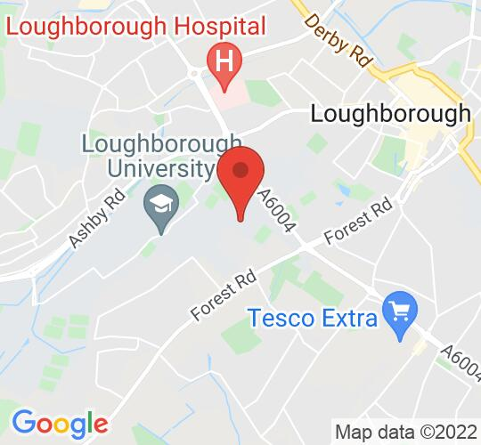 Google map static shot of Towers Hall//Loughborough Students Union, Leicestershire, LE113TG