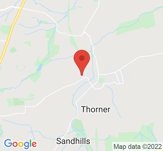 Google map static shot of Thorner Victory Hall, Leeds, LS14 3EY