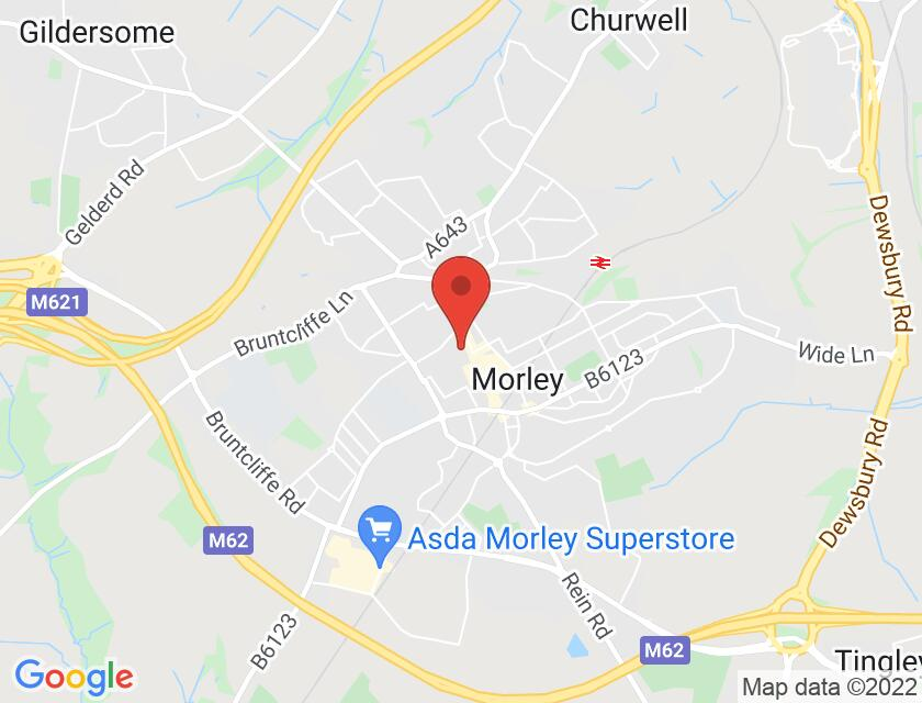 Google map static shot of Morley Town Hall: Alexandra Grand Hall, Morley, LS27 9DY