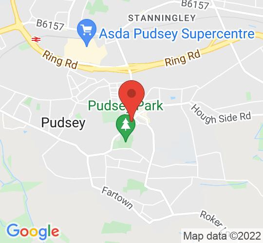 Google map static shot of Pudsey Library, Pudsey, LS28 7TY
