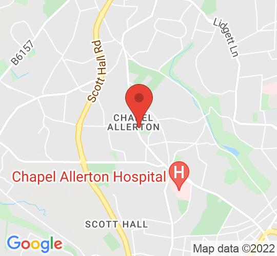Google map static shot of Chapel Allerton Library, Leeds, LS7 4LZ