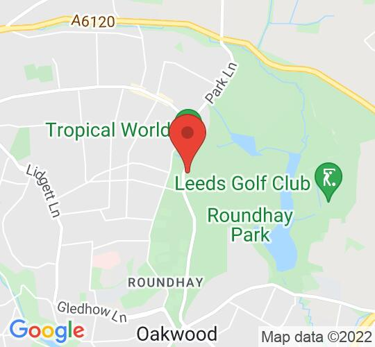 Google map static shot of Leeds, ROUNDHAY PARK, LS8 2EP