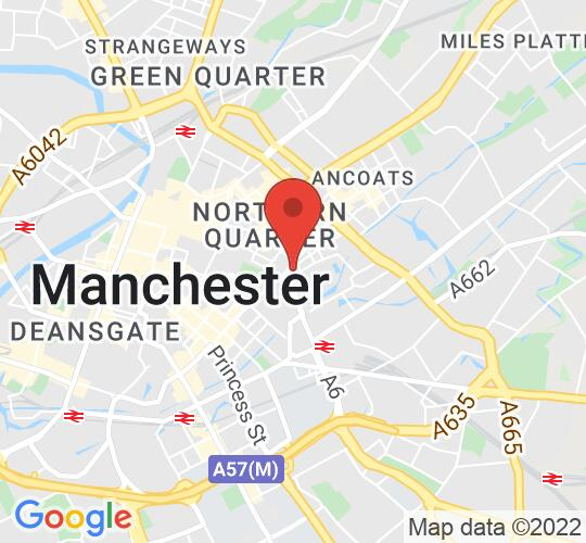 Google map static shot of Jimmy's, Manchester, M1 2AN