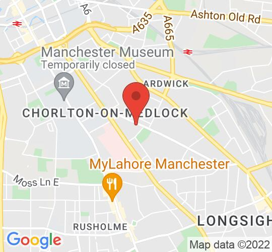 Google map static shot of Elizabeth Gaskell's House, Manchester, M13 9LW