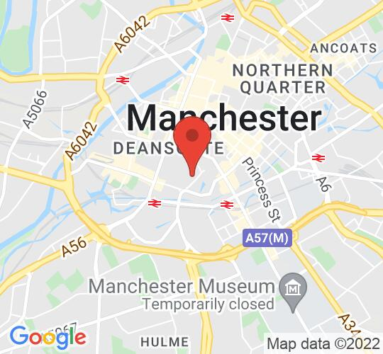 Google map static shot of The Bridgewater Hall, Manchester, M2 3WS