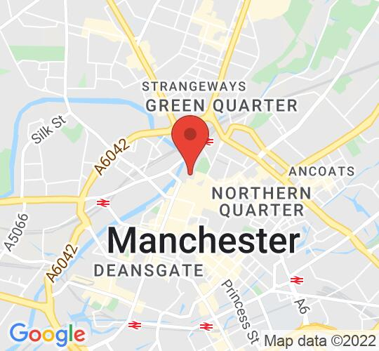 Google map static shot of Manchester Cathedral, Manchester, M3 1SX