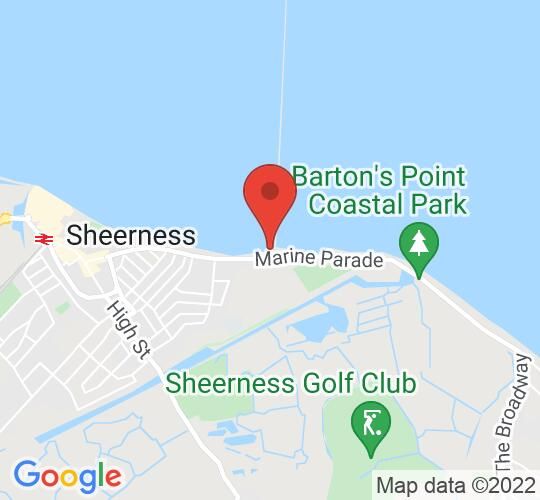 Google map static shot of Isle Of Sheppey Sailing Club, Sheerness, ME12 2BE