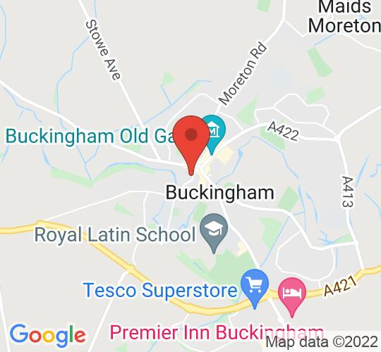 Google map static shot of Buckingham Town Hall, Castle Street, MK18 1BS