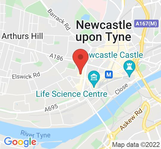 Google map static shot of Discovery Museum, Newcastle upon Tyne, NE1 4JA