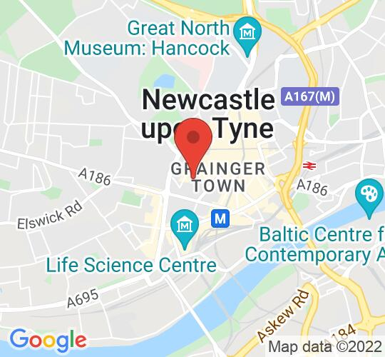 Google map static shot of Blackfriars Cookery School, Newcastle upon Tyne, NE1 4XN