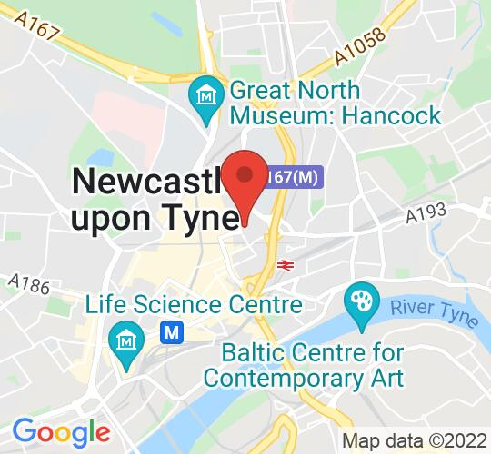 Google map static shot of Laing Art Gallery, Newcastle upon Tyne, NE1 8AG