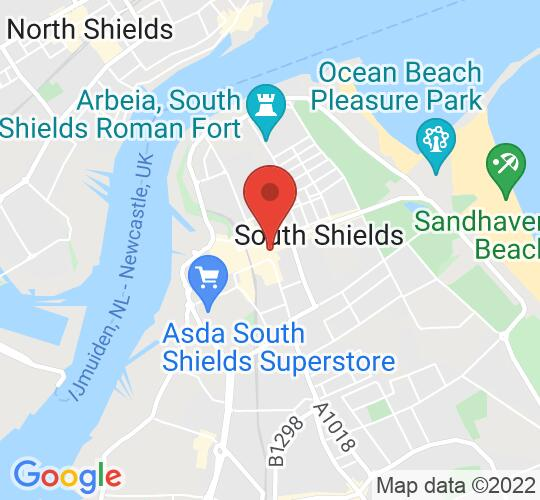 Google map static shot of South Shields Museum & Art Gallery, Tyne and Wear, NE33 2JA
