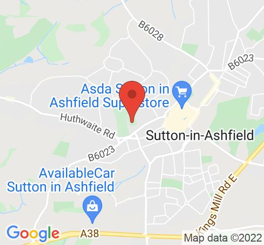 Google map static shot of St Mary Magdalen, Sutton in Ashfield, NG17 2EB