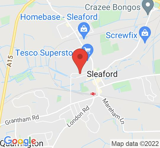 Google map static shot of Sleaford Playhouse Theatre, Lincolnshire, NG34 7PP