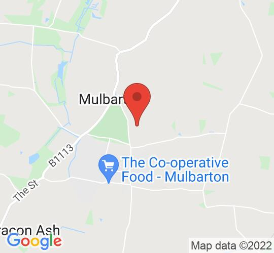 Google map static shot of Mulberry Park Football Ground, Norfolk, NR14 8AE