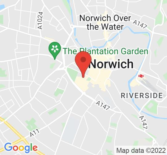 Google map static shot of Great Hall Theatre Company, Norwich, NR2 1RQ