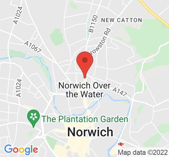 Google map static shot of EPIC STUDIOS, Norwich, NR3 1JD