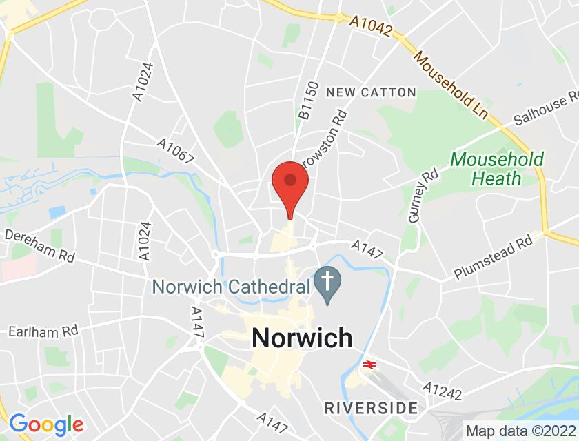 Google map static shot of EPIC, Norwich, NR3 1JD