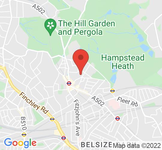 Google map static shot of Burgh House & Hampstead Museum, London, NW3 1LT
